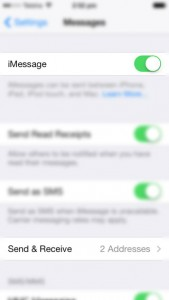 iOS 7 Settings Messages